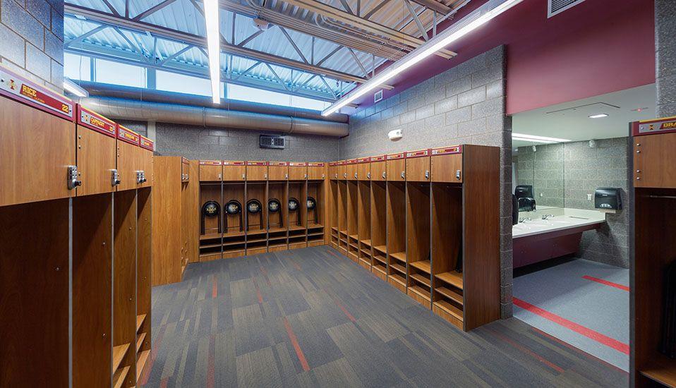 Iowa State University Cyclone Sports Complex Rdg Planning Design Locker Room Sports Complex Athletic Locker