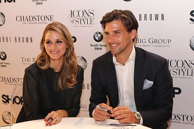 Olivia Palermo and her new husband Johannes Huebl front fashion