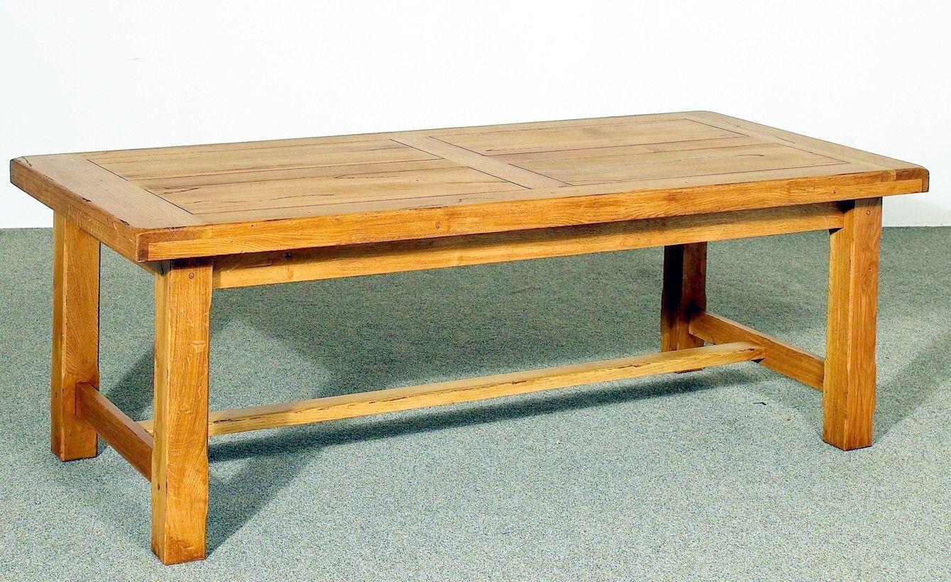 Table De Ferme Avec 2 Allonges Integrees L220 P 100 H 76 Chene