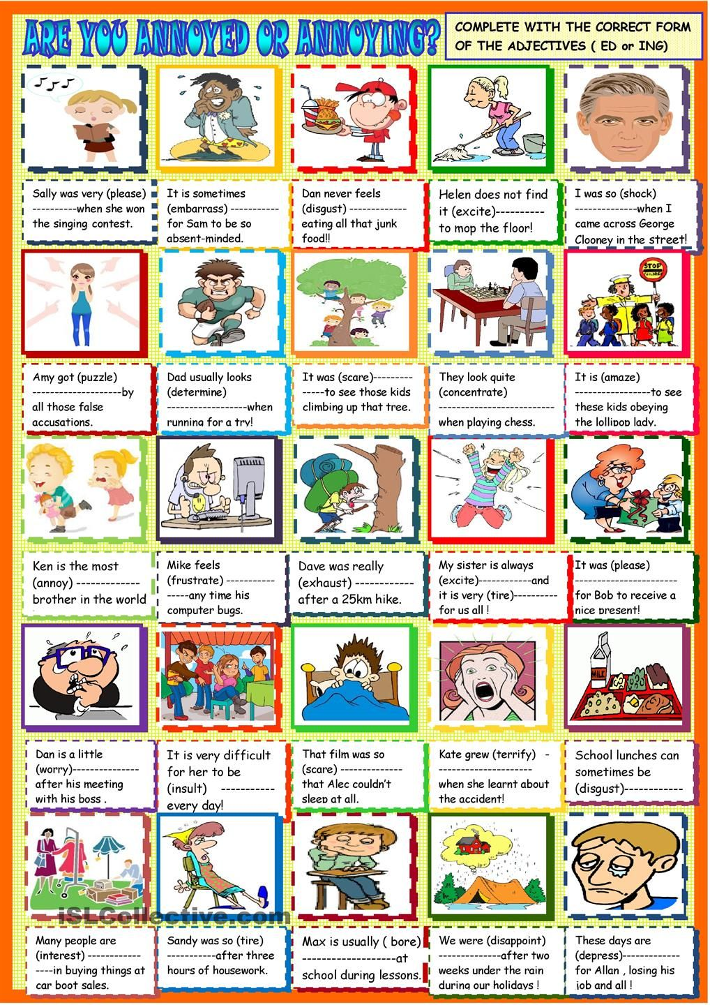 Are you annoyed or annoying:ED ING participial adjectives