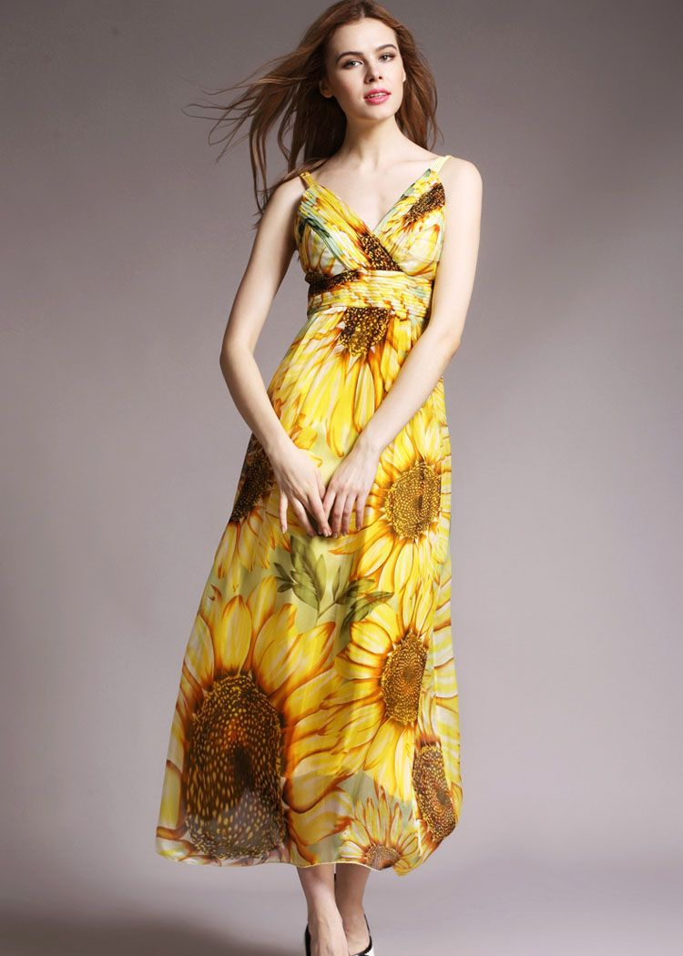 Seide Partykleid in gelb NQ3130 | Silk dress | Pinterest | Silk dress