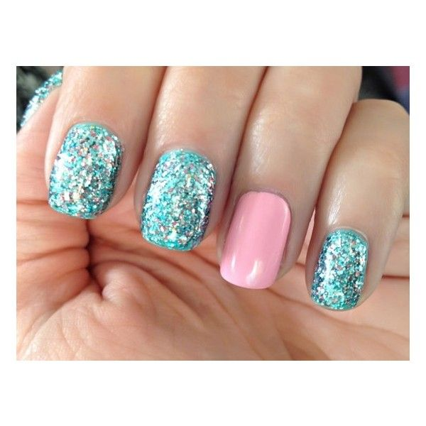 Pink And Blue Glitter Nail Polish: Little Mermaid Blue,Teal, Silver, Pink Prism Glitter Nail
