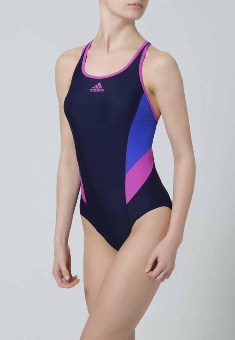 Bañador de mujer color azul marino de Adidas performance #bañador #swimsuit  #monokini #