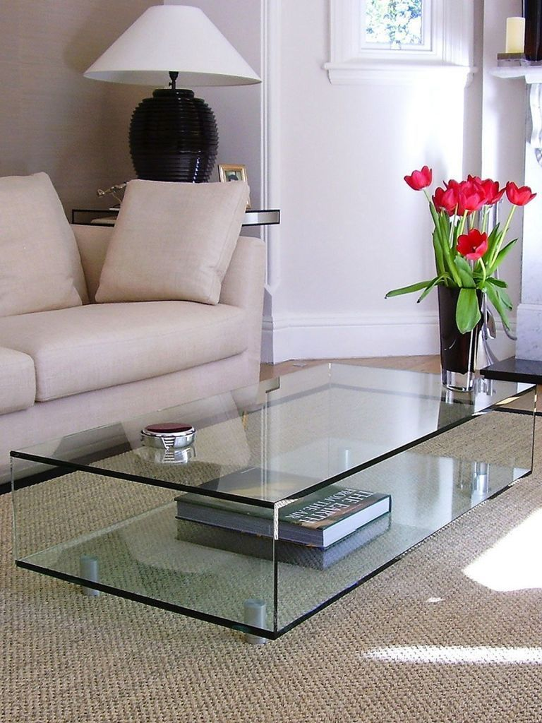 Glass Table Decor Living Rooms Glass Table Living Room Living Room Table Coffee Table Decor Living Room [ 1024 x 768 Pixel ]