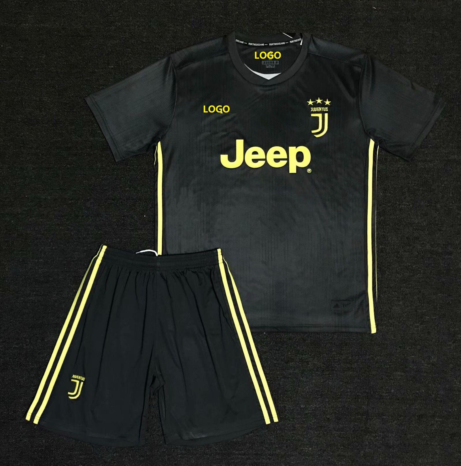 7adbaec6f30e 2018 19 AAA Men Juventus Away Soccer Uniform Adult Football Kits Customize  Name Number