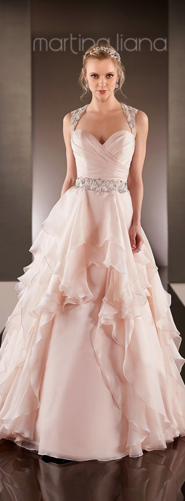 Martina Liana Spring 2015 Bridal Collection | Damas de honor rosas ...