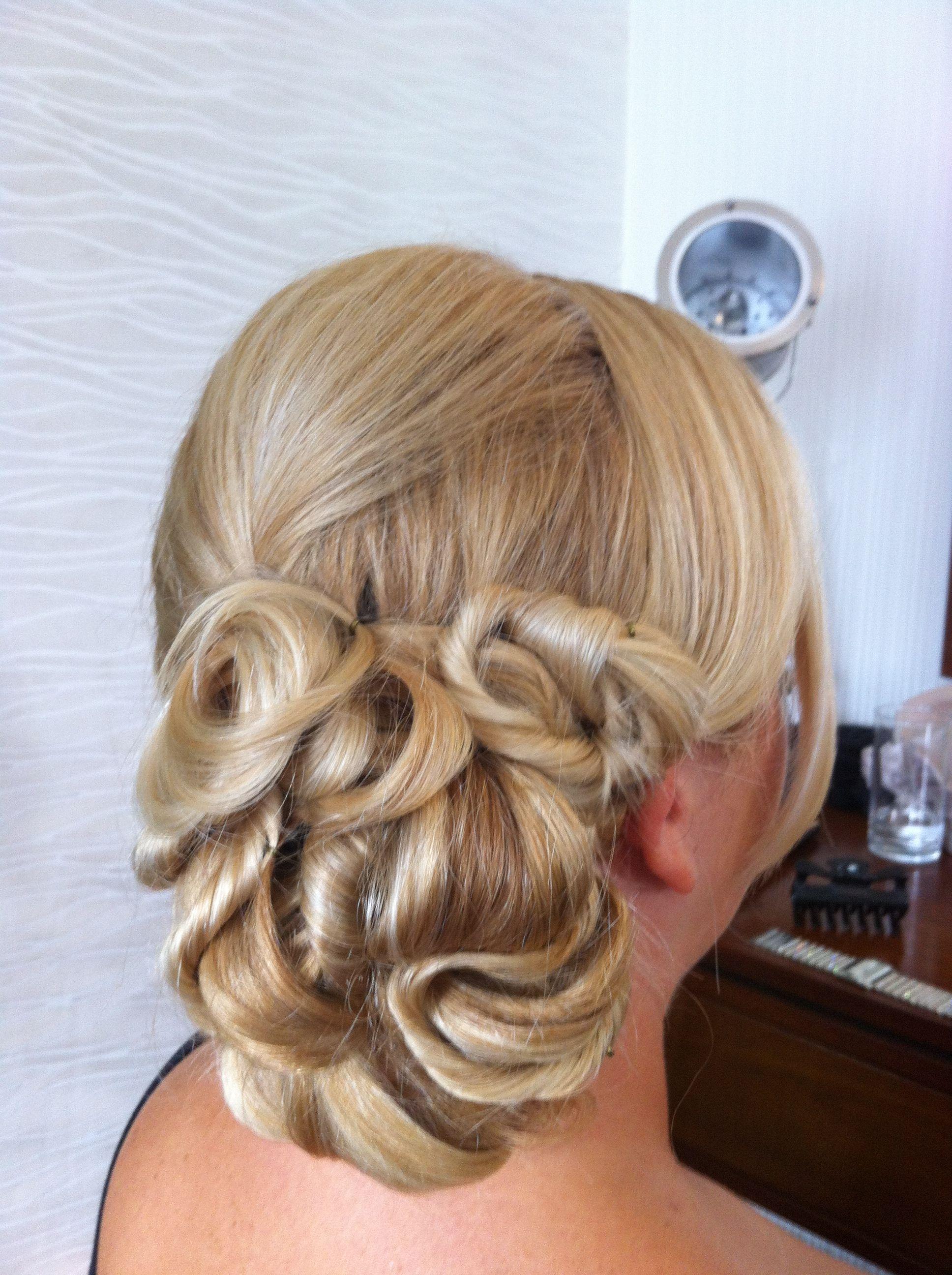 twisted side bun   vintage wedding hair   pinterest