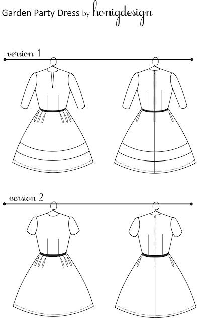 Garden party dress pattern (via Honig Design) Complete downloadable ...