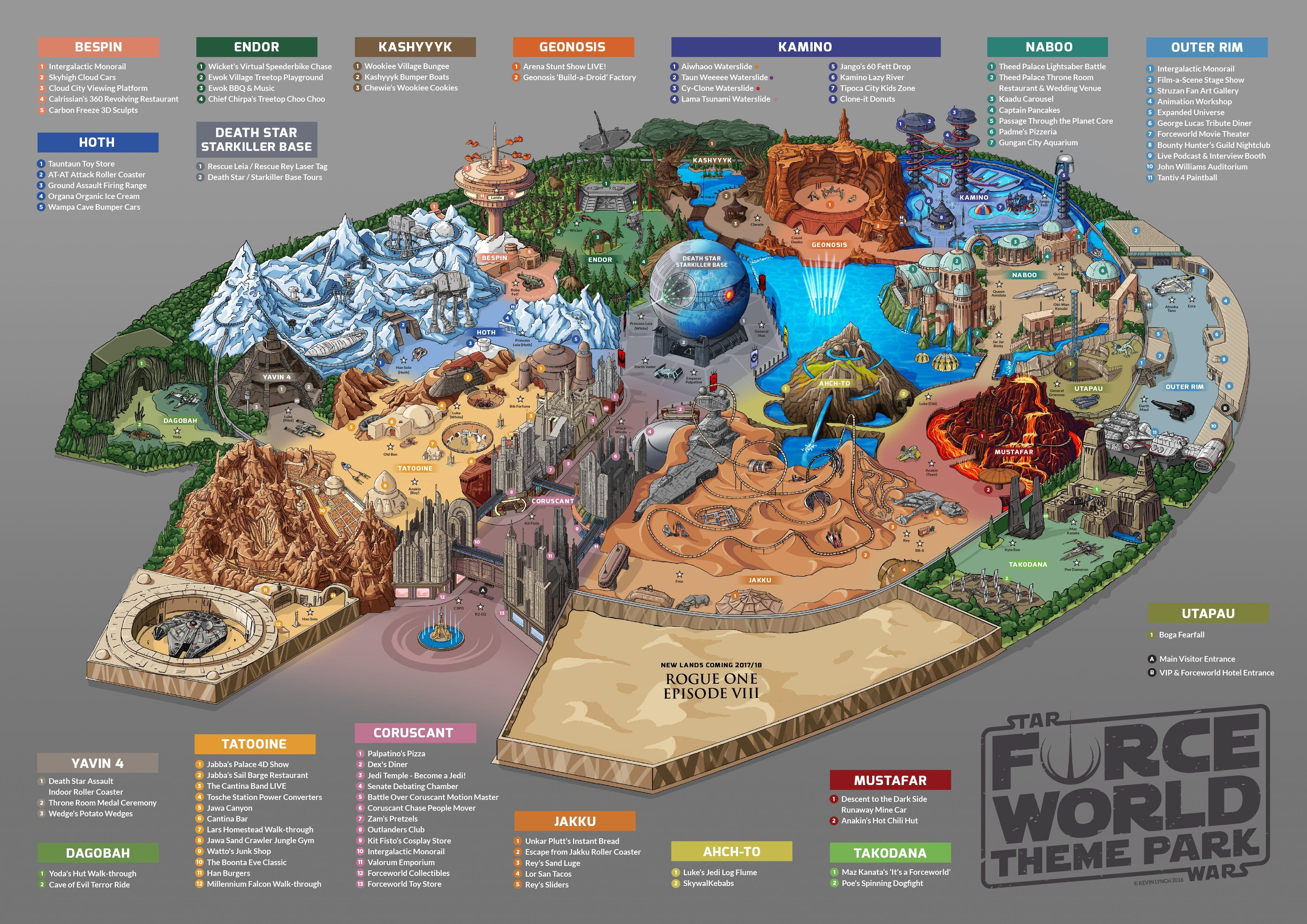star wars world map Force World Fan Concept For Star Wars Theme Park Star Wars Theme