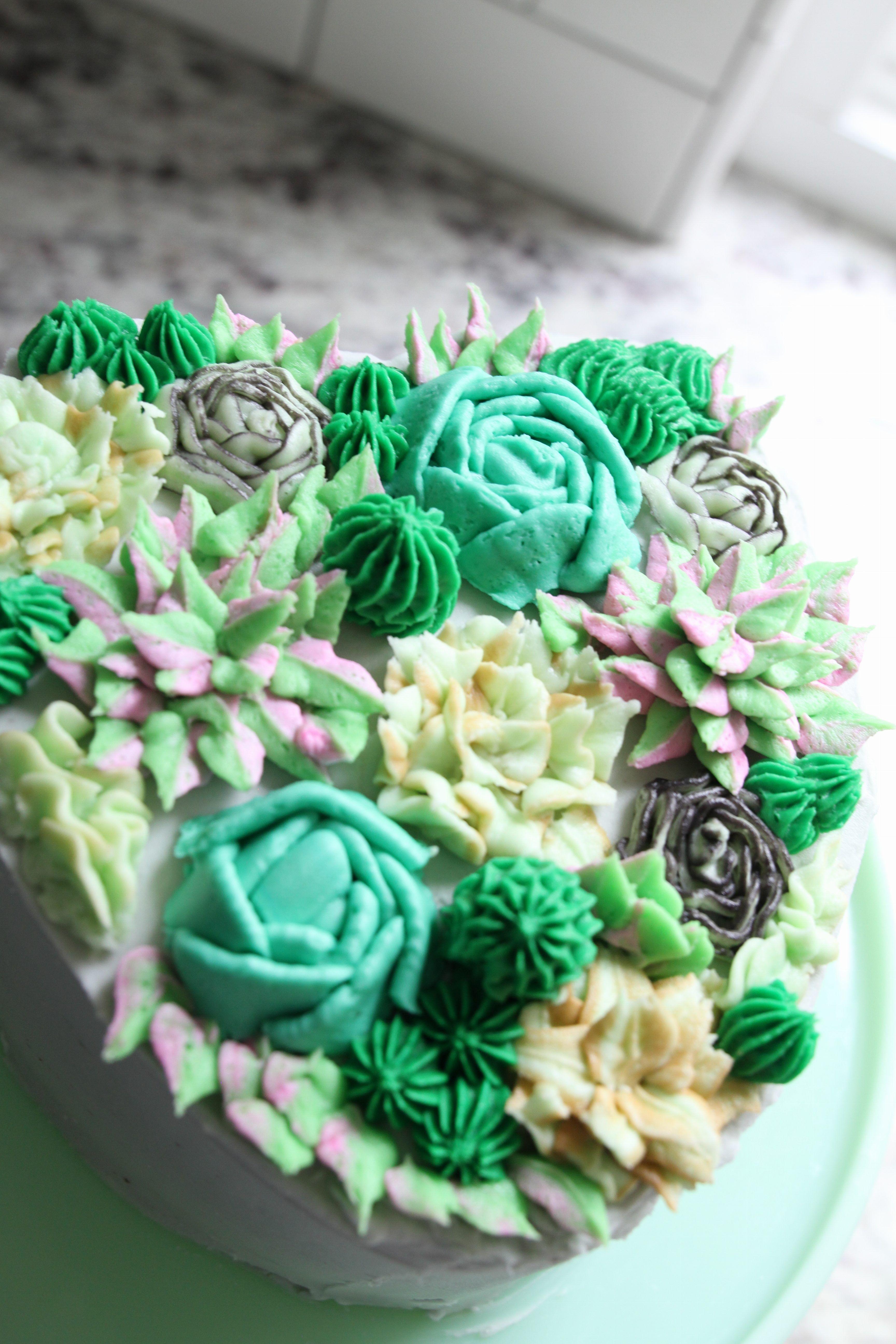 Succulent Cake Cilla and Vanilla Succulent cake, Cake