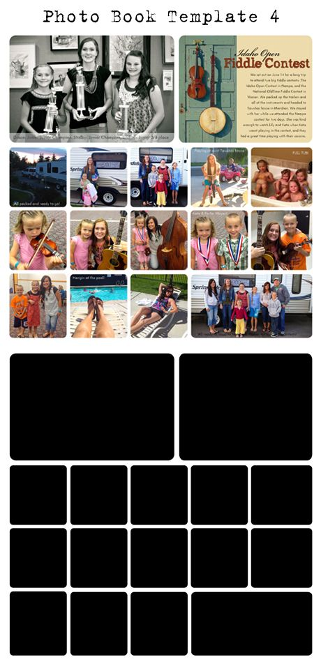 Collage Storyboard Photoshop and InDesign Templates for - photography storyboard sample