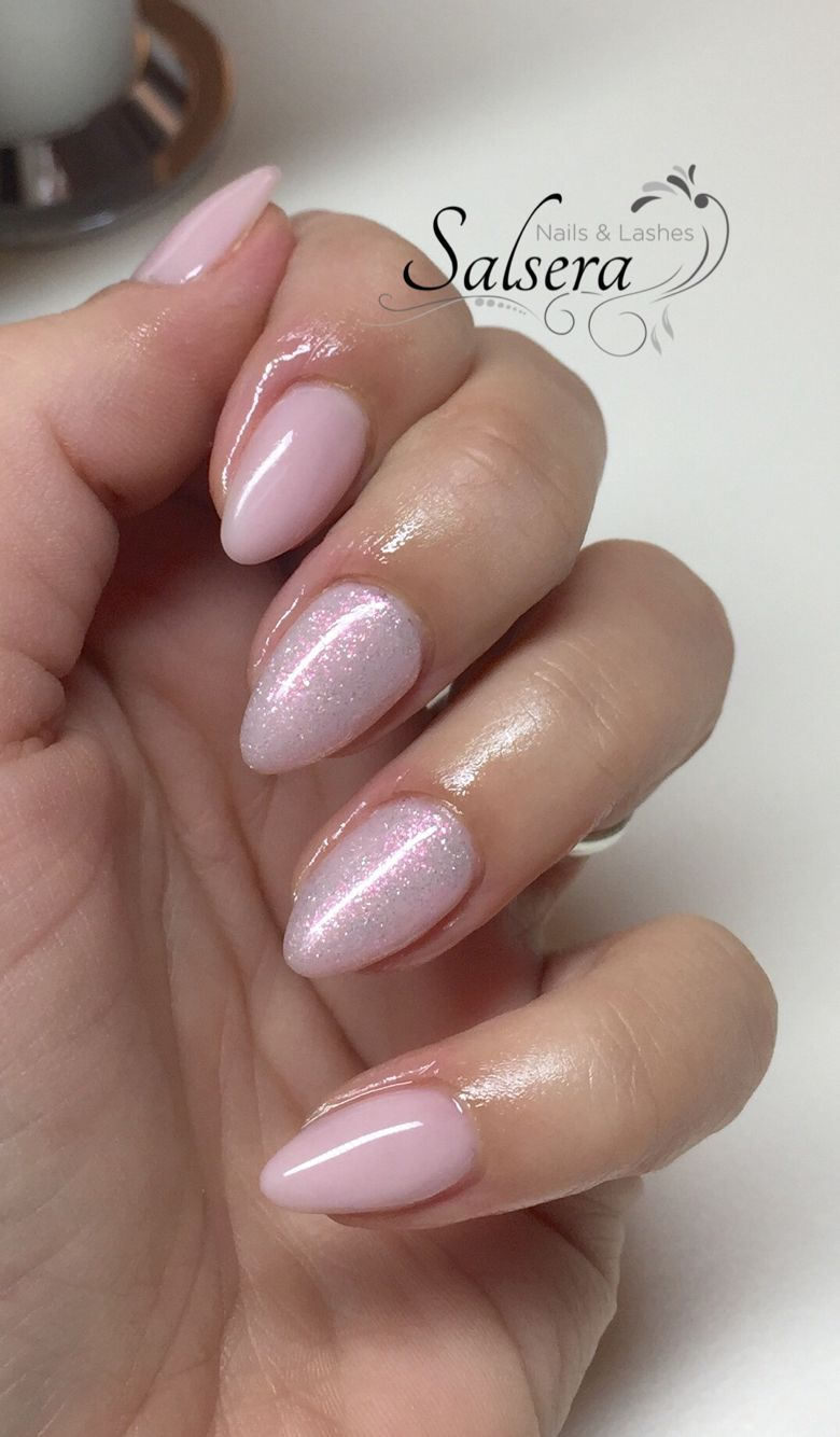 Fullcover, Nails, Nude, Mermaid-effect, Nailart, Glitter ...