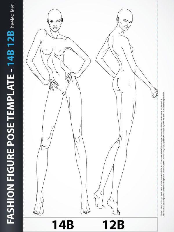 Free Fashion Croquis: 120 Fashion Figure Templates 38