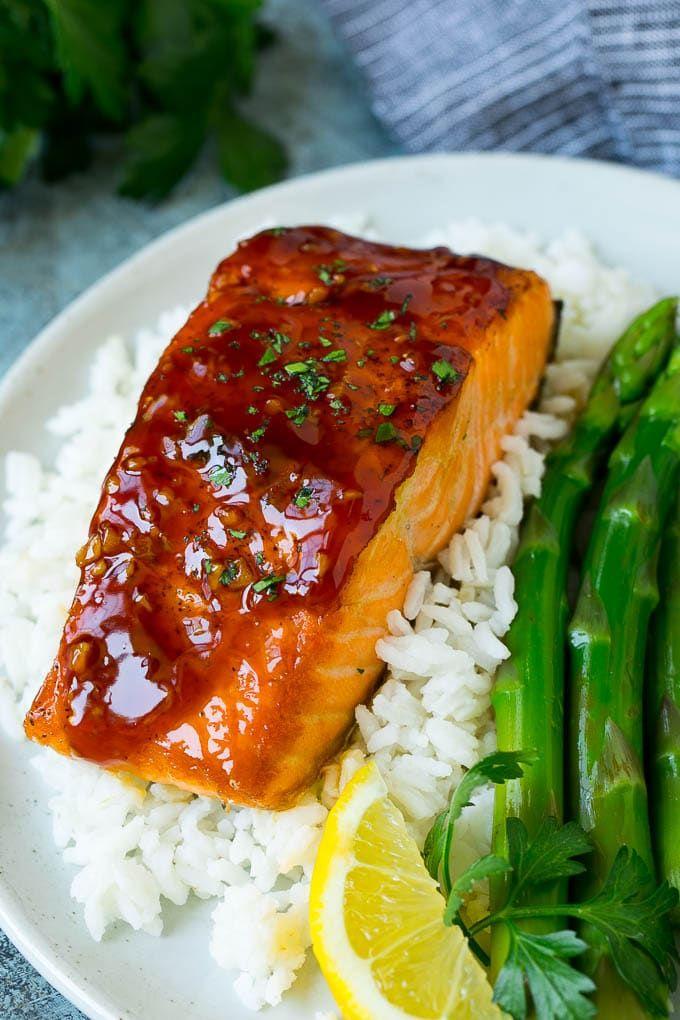 Honey Glazed Salmon - Dinner at the Zoo