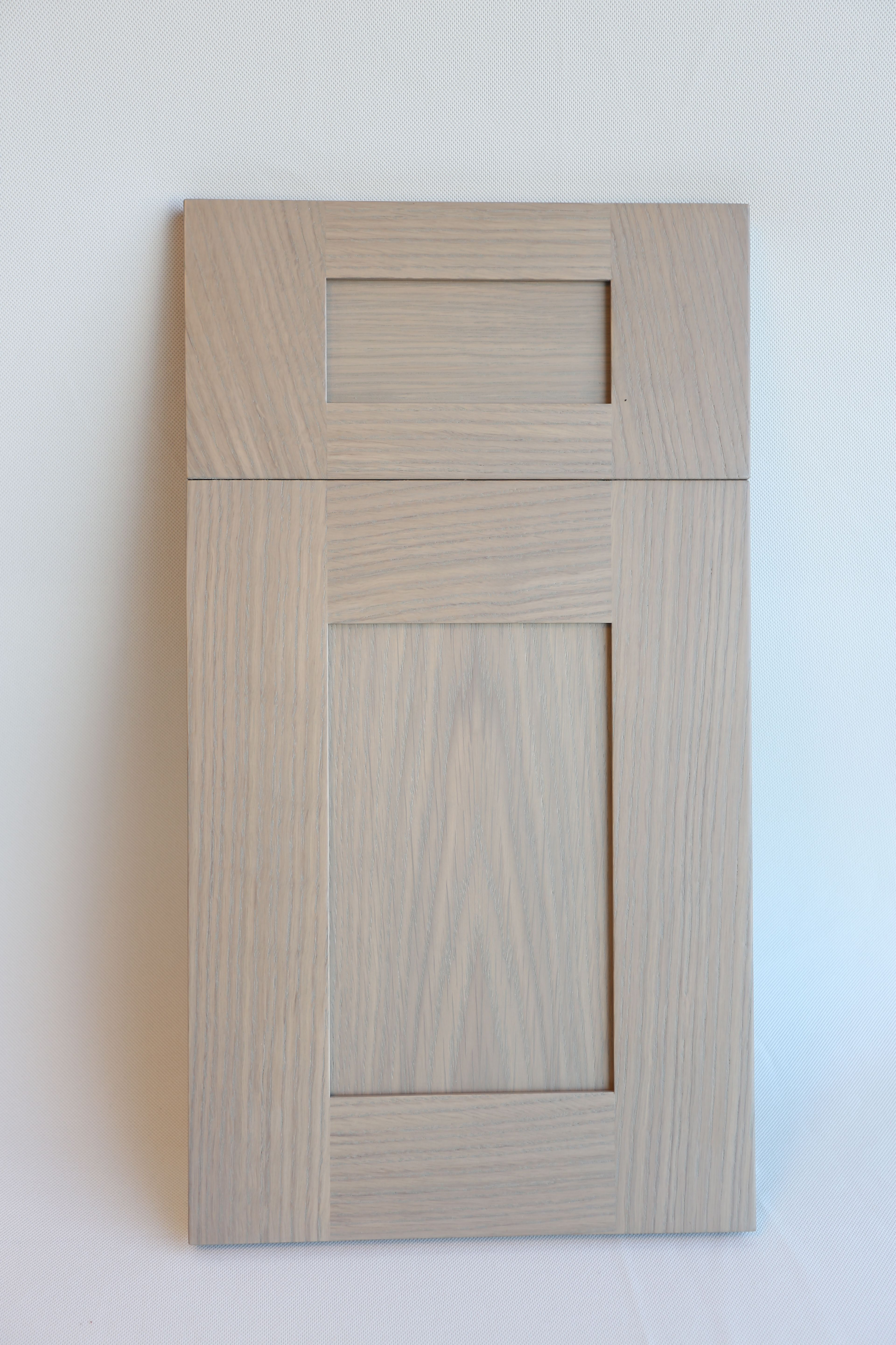 Our meridian door style in plainsawn white oak with our