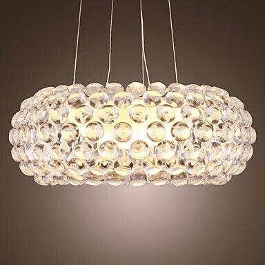 Colgante moderno con cristales en ovalo Ideas de inspiración - lamparas de techo modernas