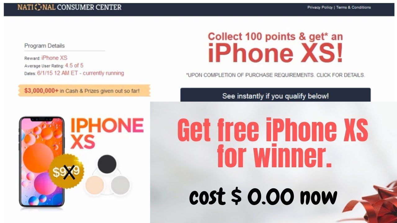 Get free iPhone xs giveaway No human verification without