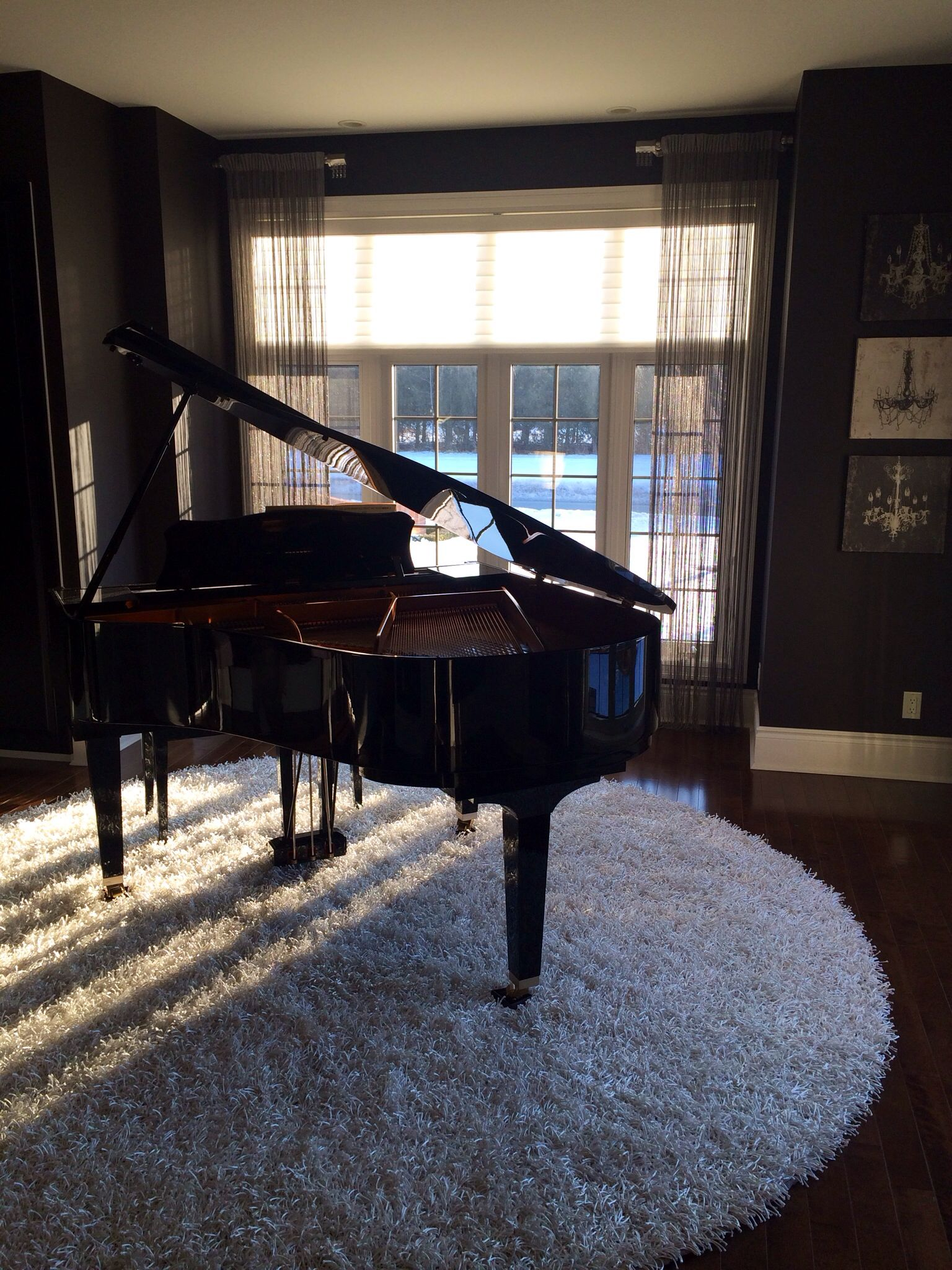 Placing Piano Legs On Carpet Or Coasters Will Save Hardwood Floors From Being Damaged