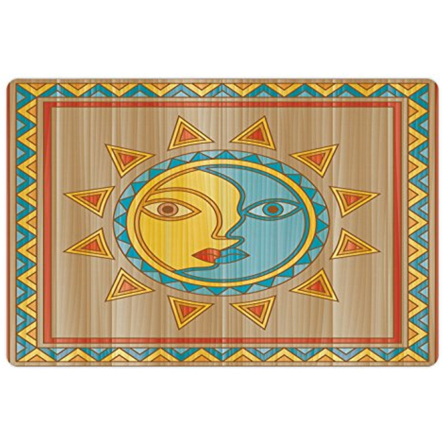 Sun And Moon Pet Mats For Food And Water By Lunarable