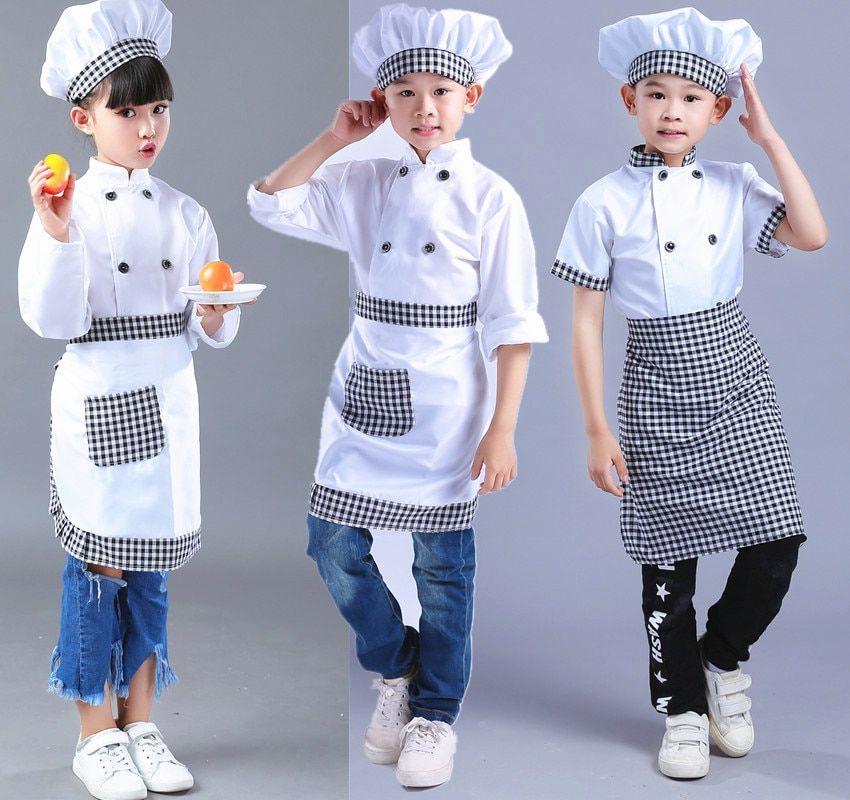 Doctor Coat Fancy Dress Up Costume Kids Boys Girls Cook Chef Jacket Hat Uniform