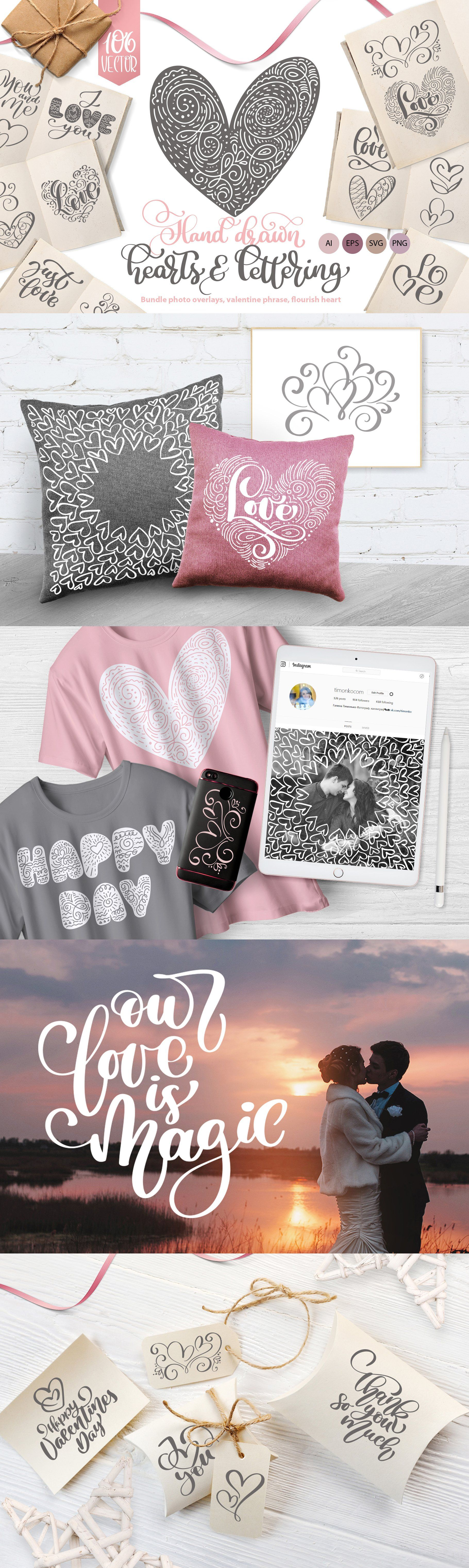 Valentines Hand Drawn Collection , #Affiliate, #web#design#packaging#branding #Ad