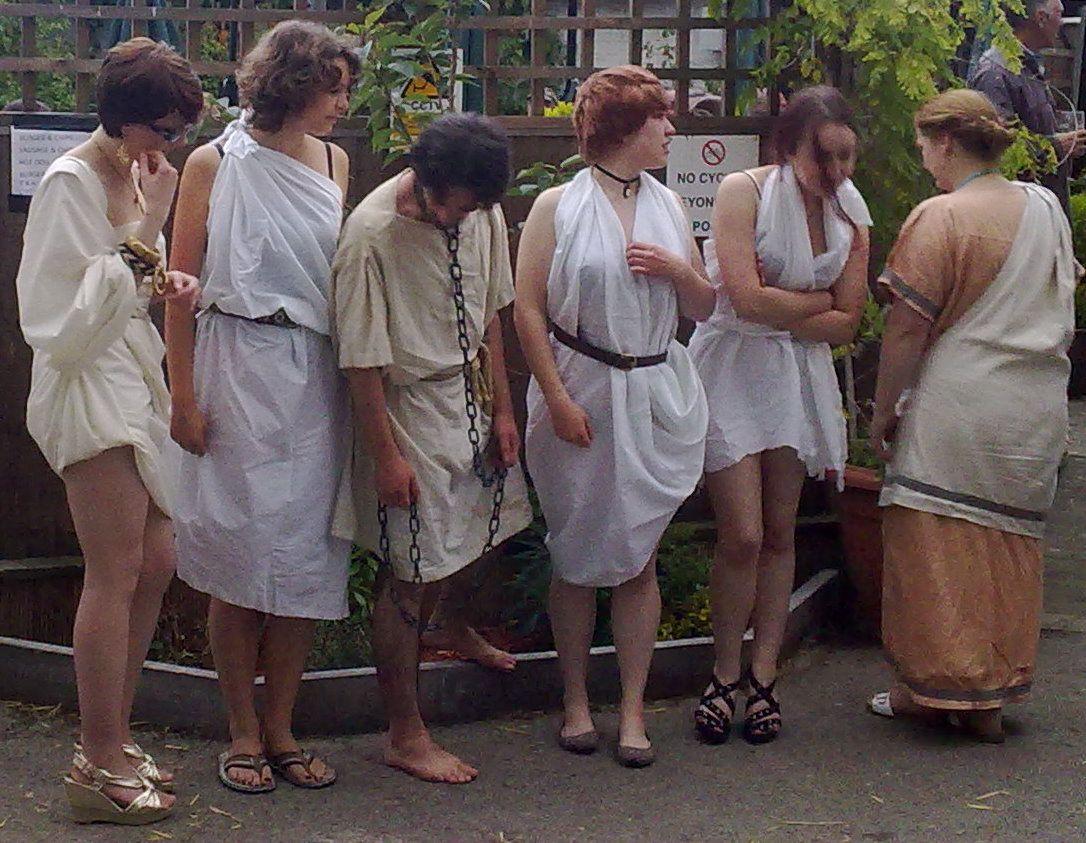 White slave girls auction