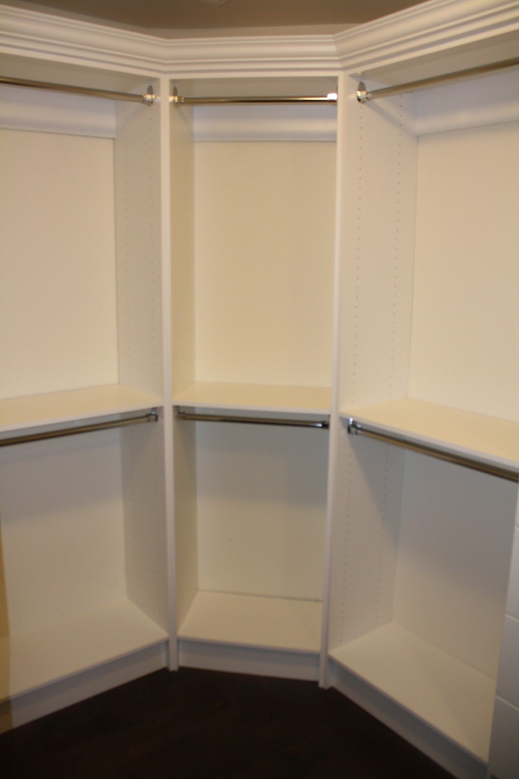 how to build a corner closet in a bedroom