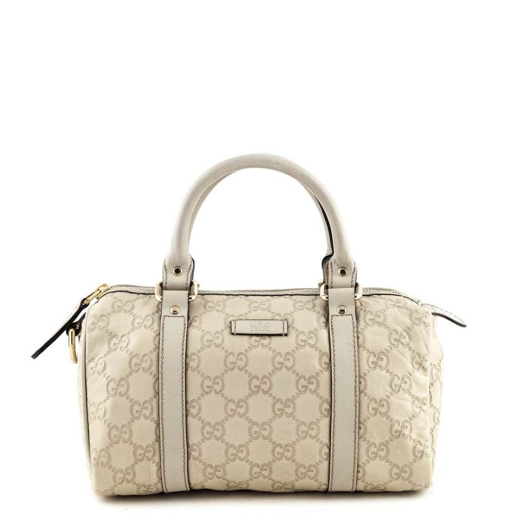 Gucci Cream Guccissima Small Joy Boston Bag Bags Boston Bag Bags Designer