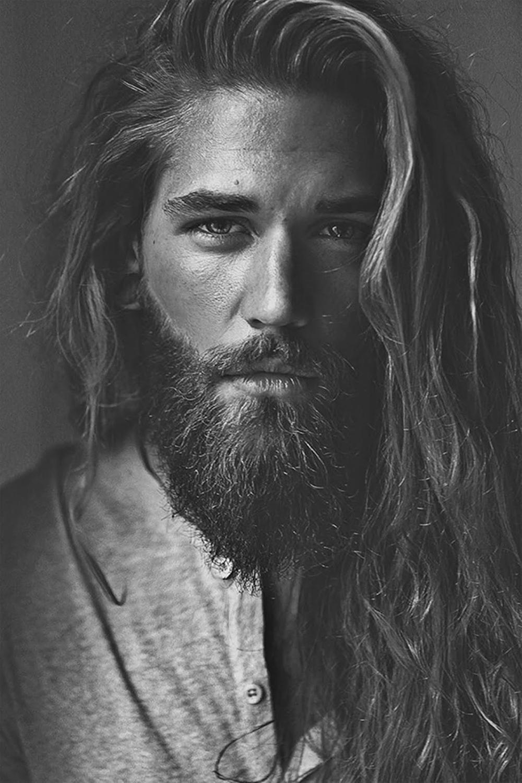 BEN DAHLHAUS | Lange haare männer, Lange haare bart, Bart
