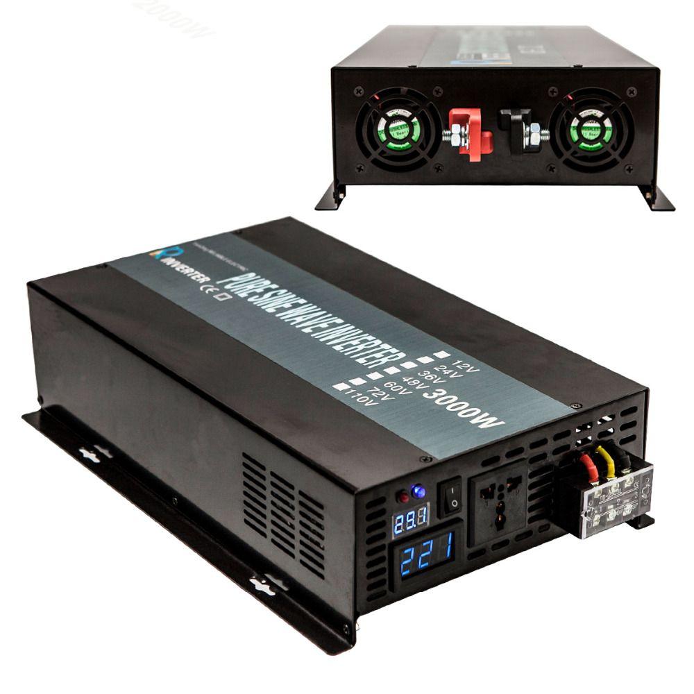 Pure Sine Wave Solar Inverter 12V 120V 3000W Car Power Inverter