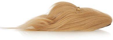 7b693255ddb Gucci - Horsebit-detailed Goat Hair Slippers - Beige