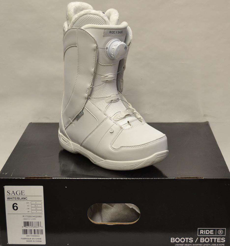 6ae1222e2e99 Boots 36292  17 18 Ride Sage Boa Size 6 Women S Snowboard Boots - White