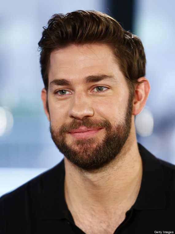 As If He Wasn T Perfect Enough He Got A Beard John Krasinski Funny Beard Memes Beard Memes