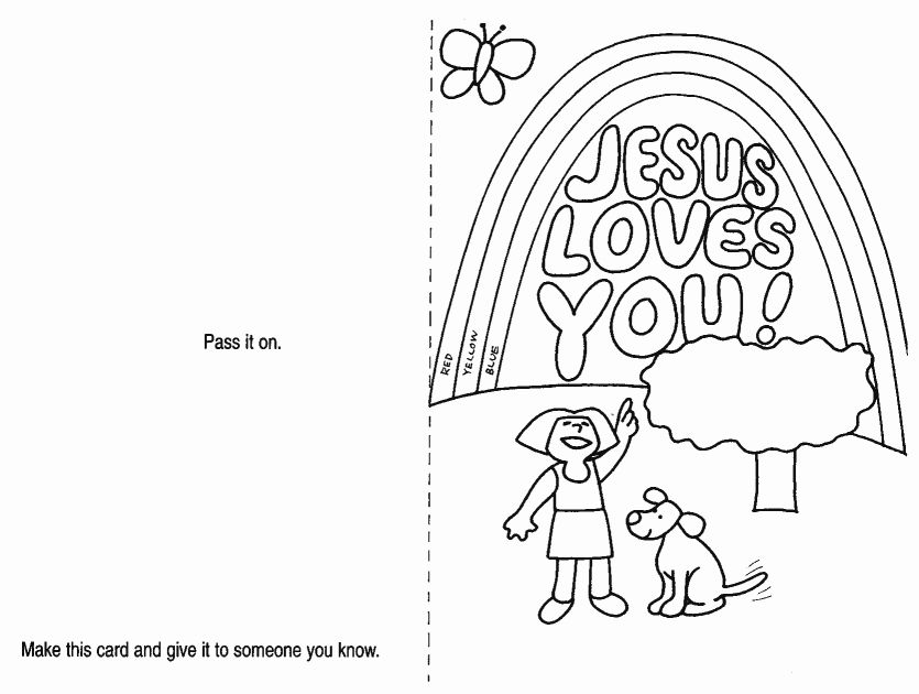 Print Coloring Jesus Loves You Coloring Page On Jesus