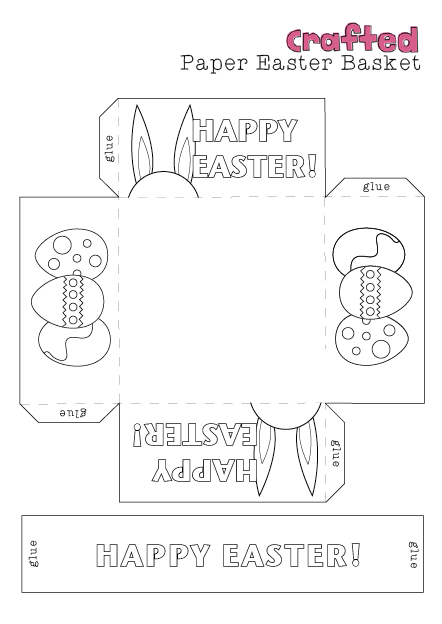 Crafted easter craft printable easter basket easter printables crafted easter craft printable easter basket pronofoot35fo Images