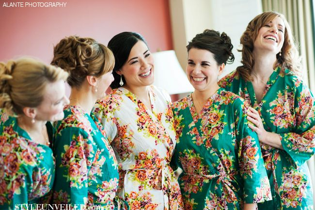 Silk Fl Bridesmaid And Bridal Robes More On Etsy Style Unveiled