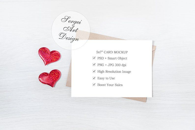 5x7 Card Mockup Invitation Mockup Card Mockup With Envelope Etsy Invitation Mockup Invitations Cards