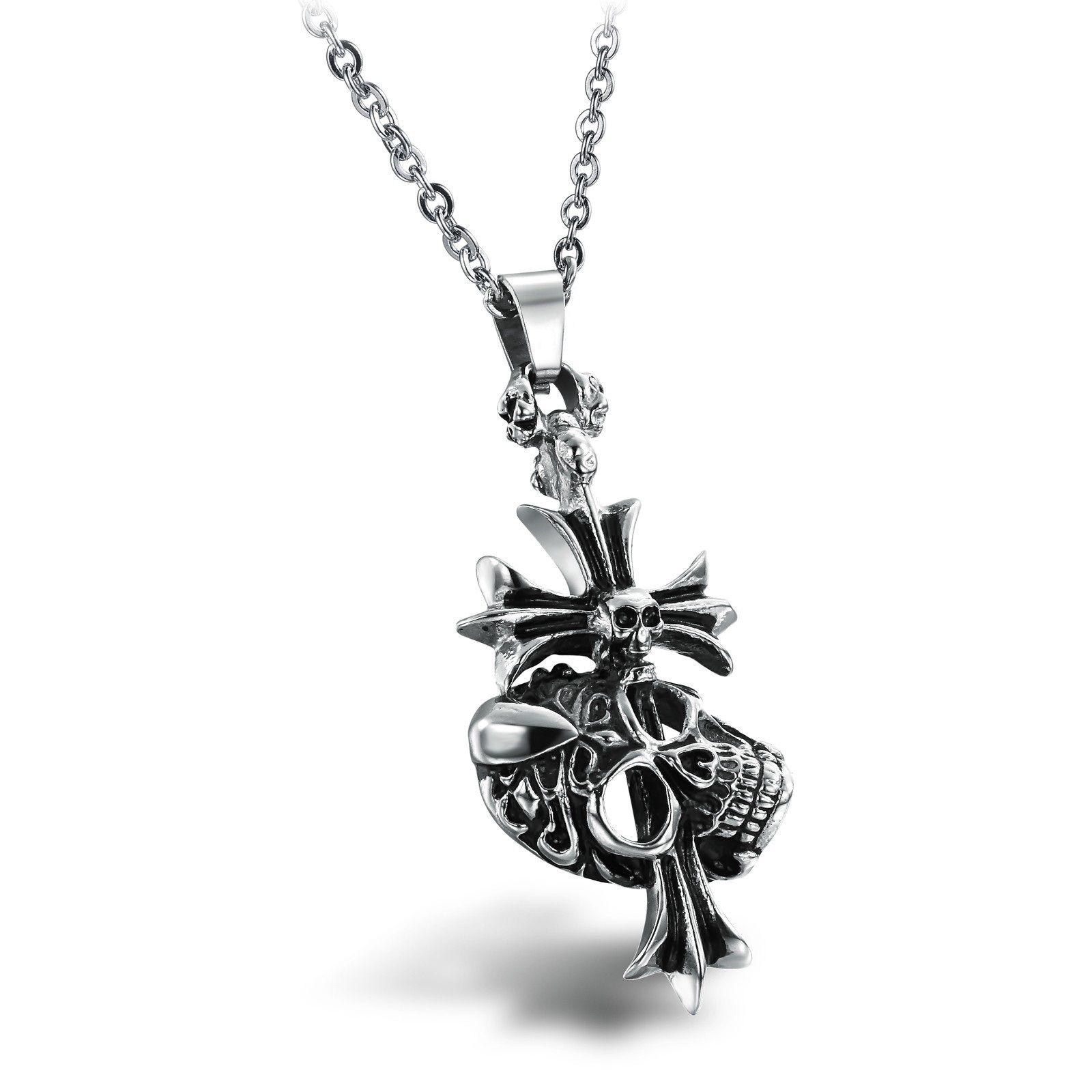 Men's Silver Skull Claw Skeleton Pendant Gift for Boyfriend ...