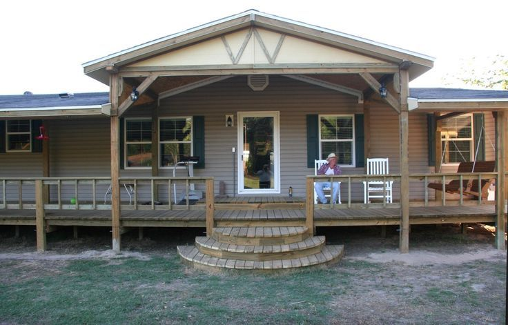 1000 ideas about mobile home porch on pinterest mobile for Wide frontage house designs