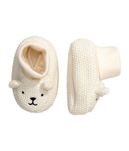 Knit Slipper Socks | White | Kids | H\u0026M