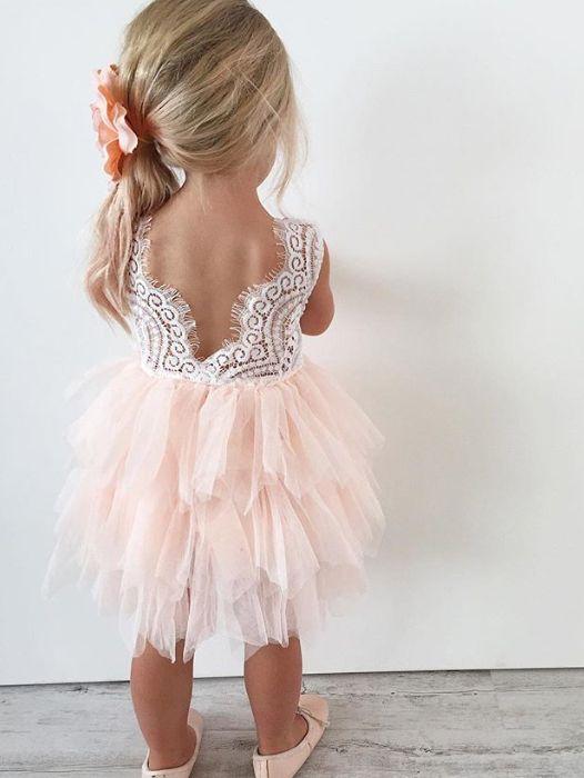 68597ea30c Adorable A-line Knee length Pink Flower Girl Dress