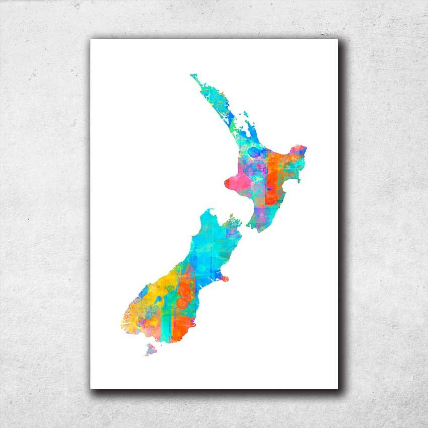 New zealand map print map of new zealand new zealand wall art new zealand map print map of new zealand new zealand wall art watercolour map print map poster new zealand home decor 716 gumiabroncs Gallery