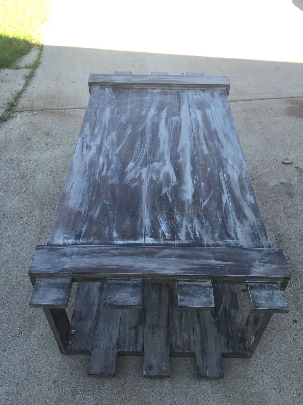 Baby Blue Distressed Coffee Table