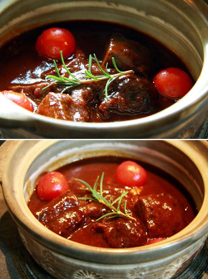 소 볼살 레드와인 찜 Beef Cheek Ragu in Red Wine Sauce - 소 볼살을 레드와인에 오랜 시간 졸여 낸 부드러운 요리