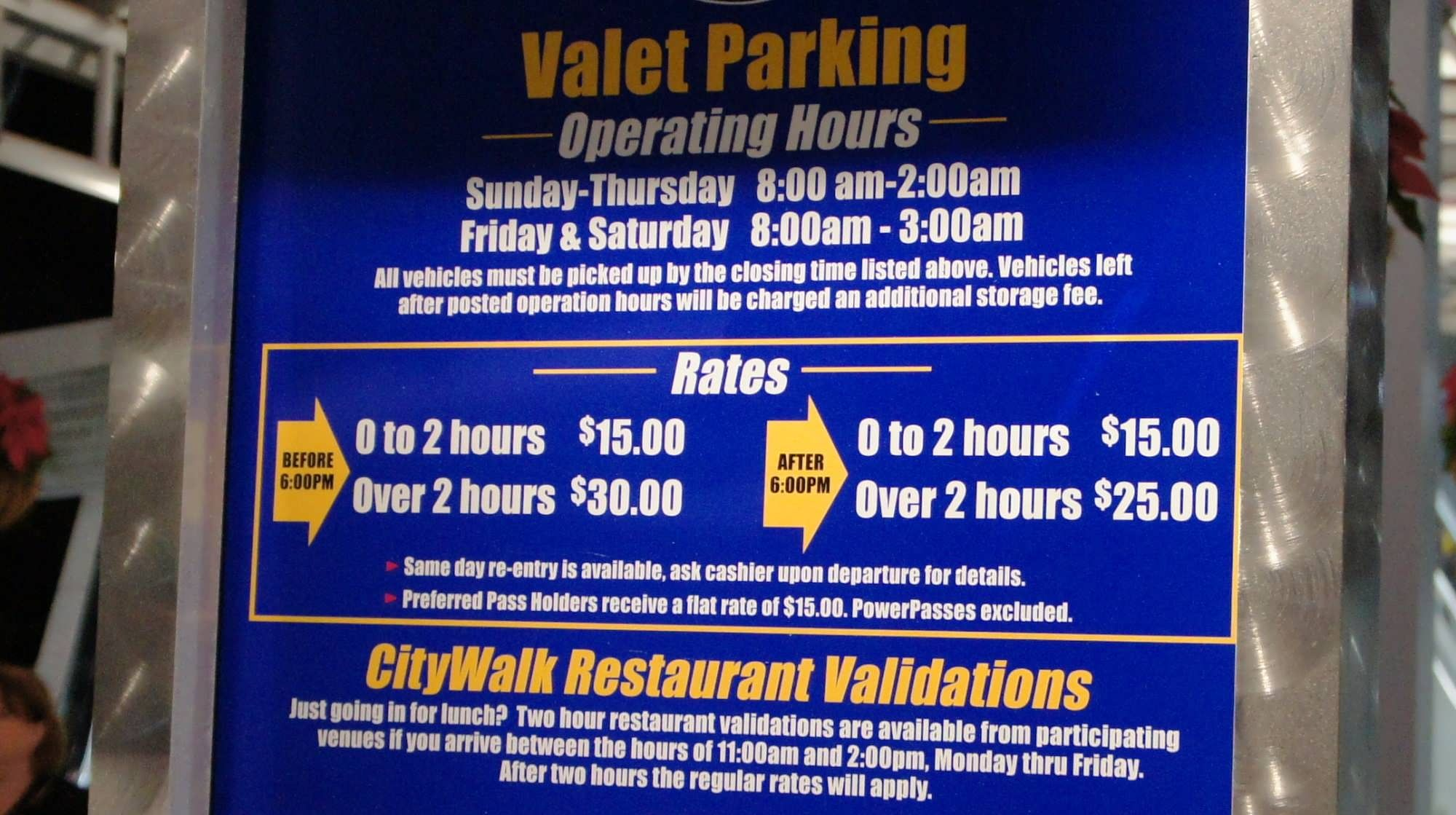 Universal Orlando S Valet Parking Rates Universal Orlando Universal Orlando