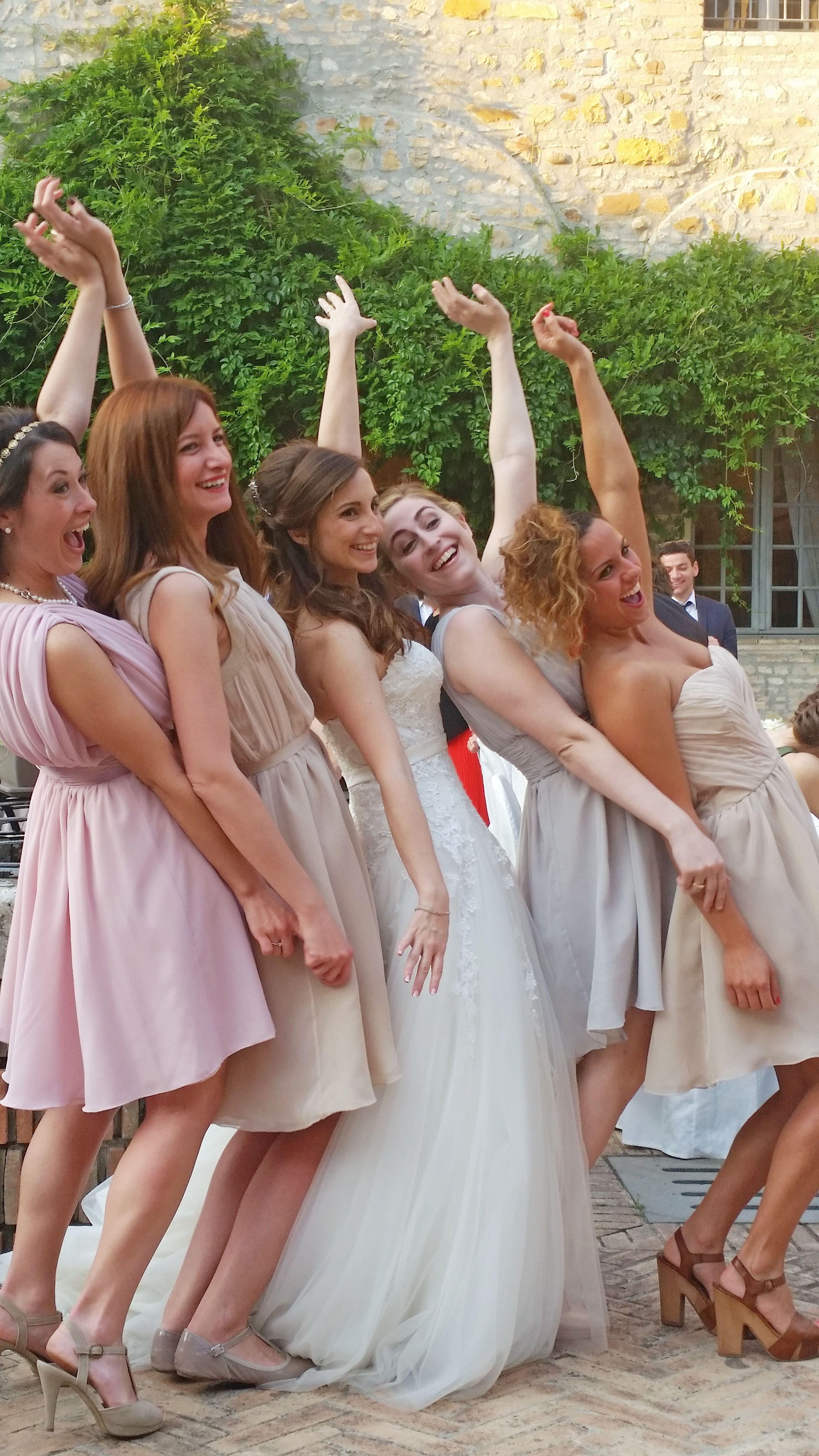 bb2f942f0202 bridesmaids soft colors. Damigelle colori pastello