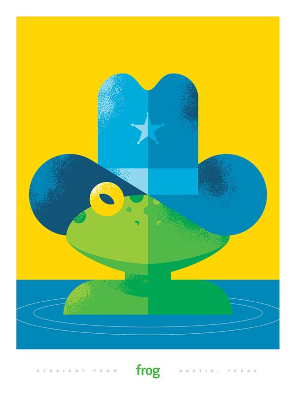Frog poster #illustration by Joseph Blalock | FROGS | Pinterest