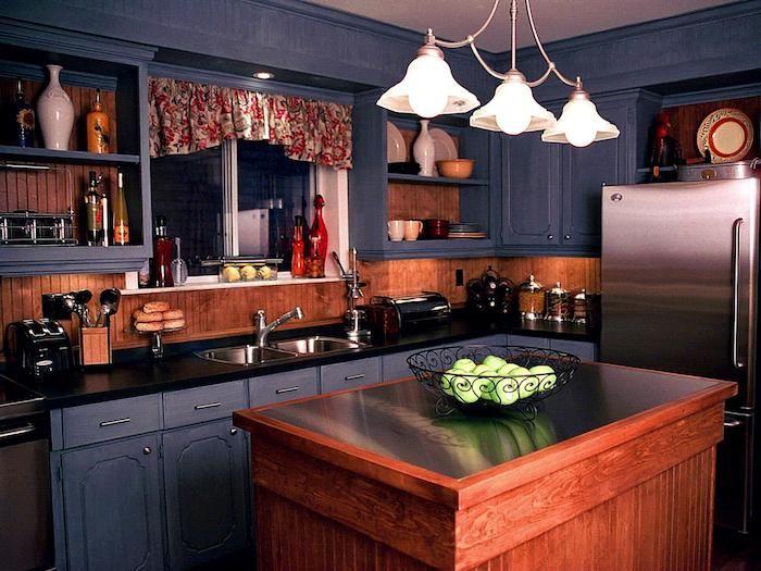 küche vorher nachher dunkle farben in der küche romantische - küche farben ideen