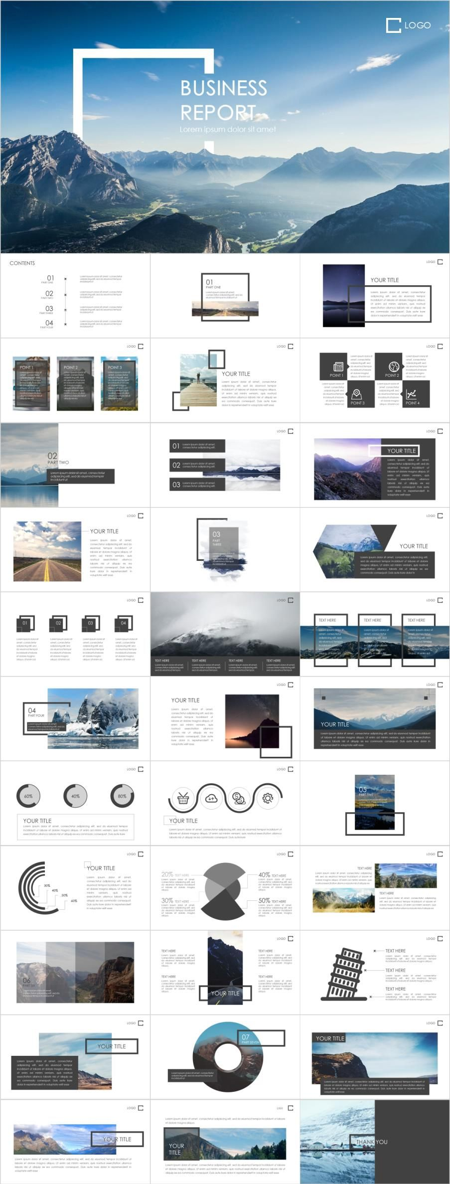 31 Best Business Project Powerpoint Templates Report Design
