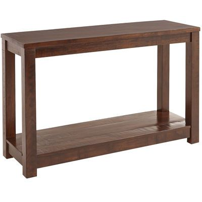 Parsons Tobacco Brown Console Table Console Table Living Room Accent Tables Solid Wood Table